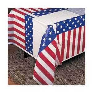 Heavy Duty USA FLAG TABLECLOTH/4th of JULY Party DECORATION/DECOR